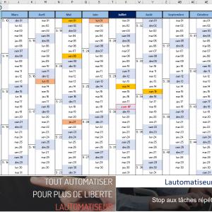 Code calendrier